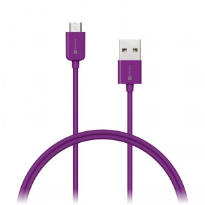 Kábel Connect IT Wirez USB/micro USB, 1m (CI-576) fialový
